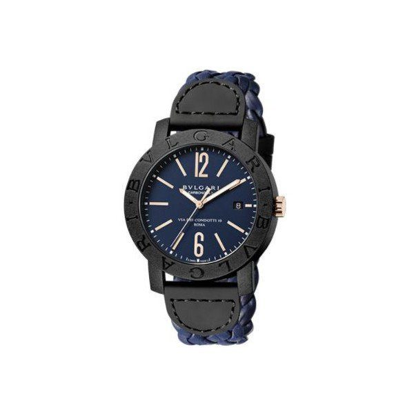 BVLGARI BVLGARI CARBON & GOLD 40MM MEN'S WATCH