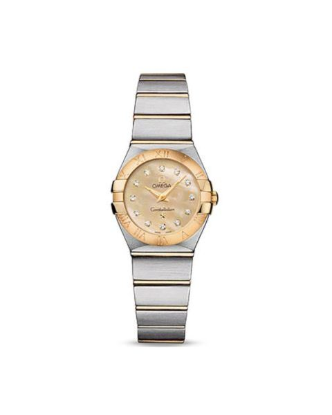OMEGA CONSTELLATION STAINLESS STEEL & 18KT YELLOW GOLD 24MM LADIES WATCH