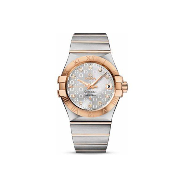 OMEGA CONSTELLATION STAINLESS STEEL & 18KT ROSE GOLD 35MM LADIES WATCH