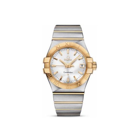 OMEGA CONSTELLATION STAINLESS STEEL & 18KT YELLOW GOLD 35MM LADIES WATCH
