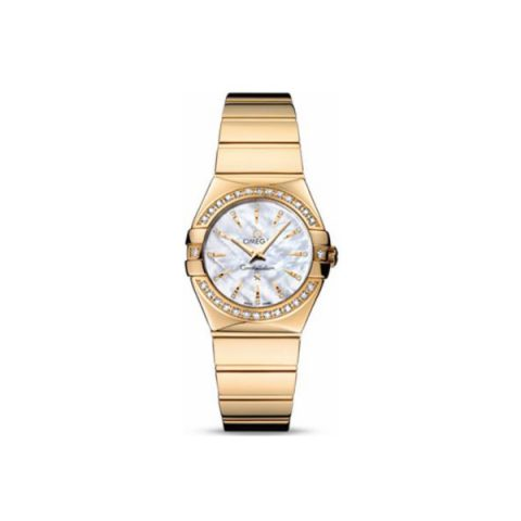 OMEGA CONSTELLATION 18KT YELLOW GOLD 27MM LADIES WATCH