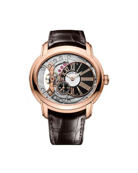 Audemars Piguet Pre-owned Millenary 4104 18kt Rose Gold 47mm Silver/anthracite Dial Men's Watch