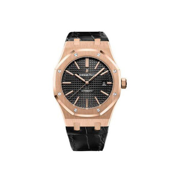 AUDEMARS PIGUET ROYAL OAK 18KT ROSE GOLD 41MM BLACK DIAL MEN'S WATCH