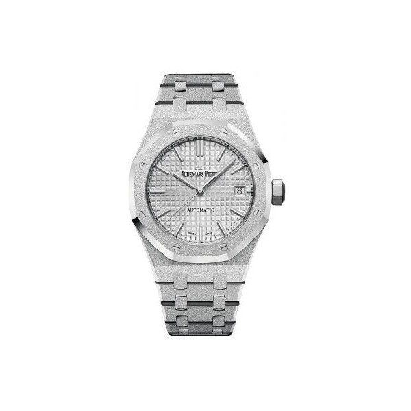 AUDEMARS PIGUET ROYAL OAK 18KT WHITE GOLD 37MM SILVER DIAL LADIES WATCH