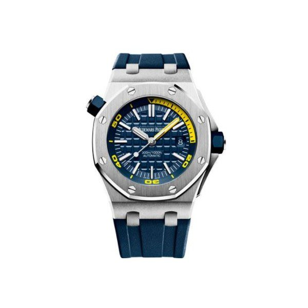 AUDEMARS PIGUET ROYAL OAK STAINLESS STEEL 42MM BLUE DIAL MEN'S WATCH