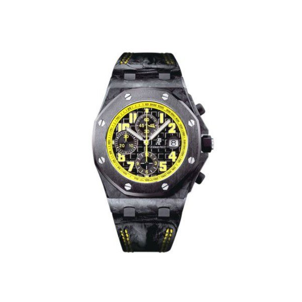 AUDEMARS PIGUET PRESTIGE SPORTS FORGED CARBON 43MM BLACK DIAL MEN'S WATCH