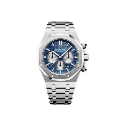AUDEMARS PIGUET ROYAL OAK STAINLESS STEEL 41MM BLUE DIAL MEN'S WATCH
