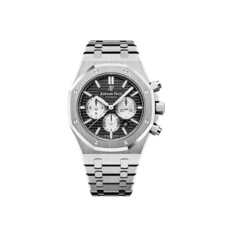 AUDEMARS PIGUET ROYAL OAK STAINLESS STEEL 41MM BLACK DIAL MEN'S WATCH