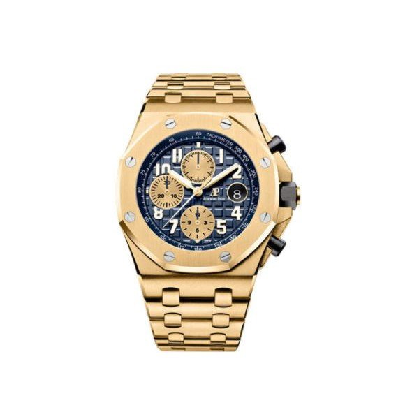 AUDEMARS PIGUET ROYAL OAK 18KT YELLOW GOLD 42MM BLUE DIAL MEN'S WATCH