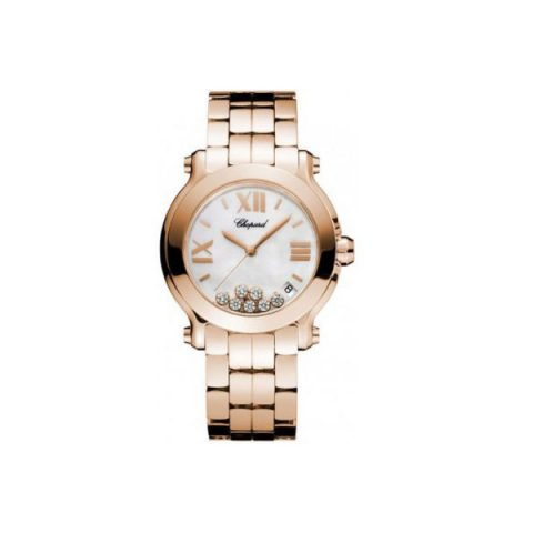CHOPARD HAPPY SPORT 18KT ROSE GOLD 36MM LADIES WATCH
