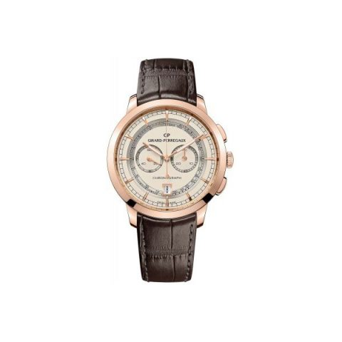 GIRARD PERREGAUX 1966 COLUMN WHEEL CHRONOGRAPH 18KT ROSE GOLD 40MM MEN'S WATCH