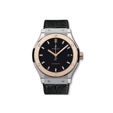 HUBLOT CLASSIC FUSION TITANIUM & ROSE GOLD 45MM MEN'S WATCH