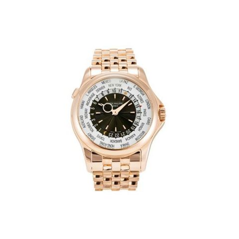 PATEK PHILIPPE COMPLICATIONS 5130/1R-011 WORLD TIME ROSE GOLD WATCH