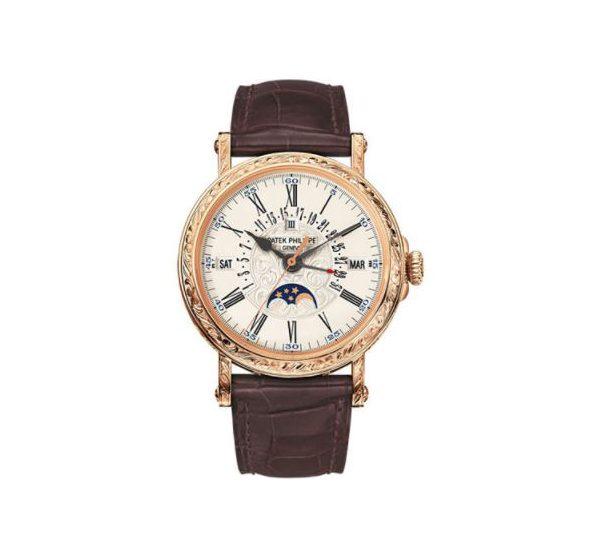 PATEK PHILIPPE GRAND COMPLICATIONS 5160R-001 PERPETUAL CALENDAR MOONPHASE ROSE GOLD WATCH