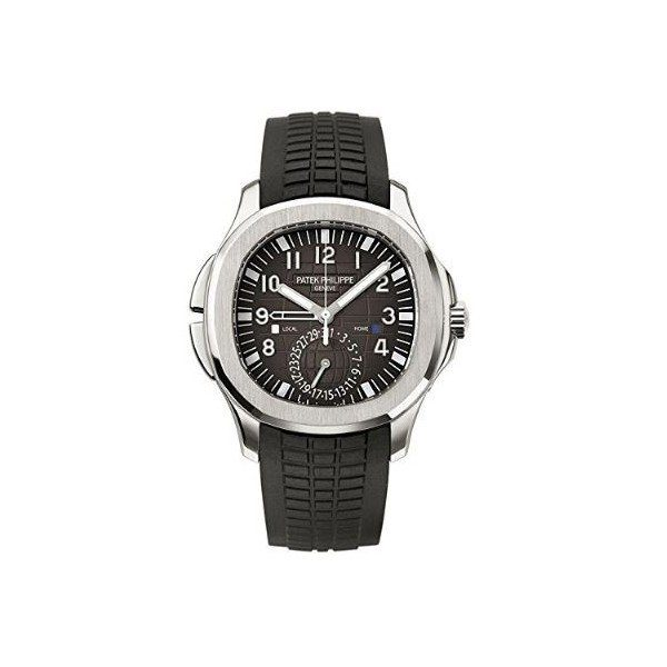 PATEK PHILIPPE AQUANAUT STAINLESS STEEL 40.8MM BLACK EMBOSSED DIAL MEN'S WATCH