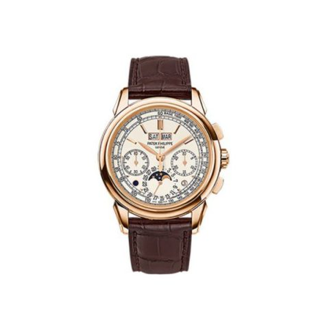 PATEK PHILIPPE GRAND COMPLICATIONS 18KT ROSE GOLD 41MM SILVERY OPALINE DIAL MEN'S WATCH