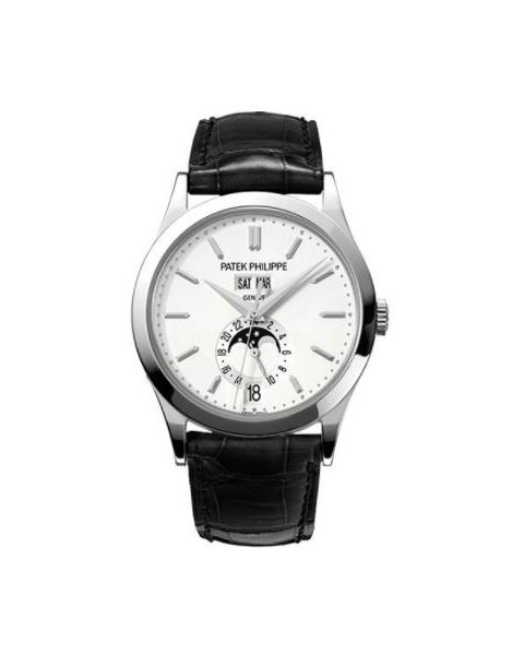 PATEK PHILIPPE COMPLICATIONS 5396G-011 ANNUAL CALENDAR MOON PHASES WHITE GOLD WATCH