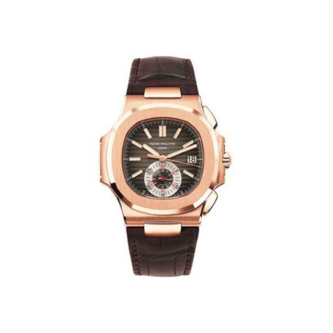 PATEK PHILIPPE NAUTILUS 18KT ROSE GOLD 40.5MM BLACK BROWN DIAL MEN'S WATCH