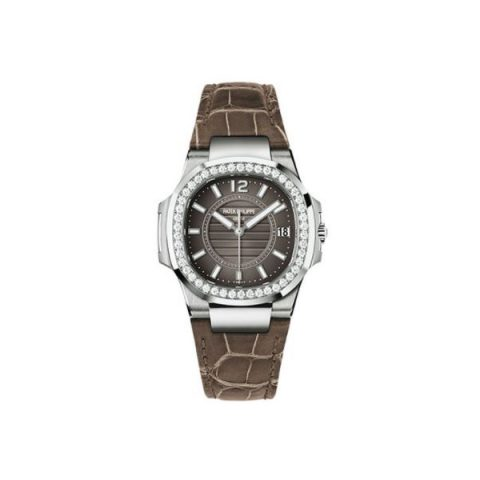 PATEK PHILIPPE NAUTILUS 18KT WHITE GOLD 32MM CHARCOAL GREY DIAL LADIES WATCH