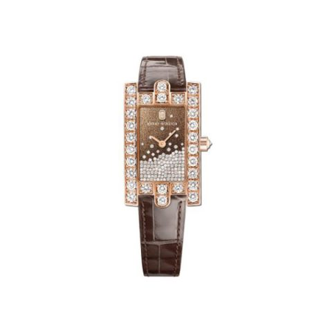 HARRY WINSTON AVENUE 18KT ROSE GOLD 36MM LADIES WATCH