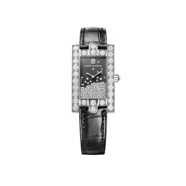 HARRY WINSTON 18KT WHITE GOLD LADIES WATCH