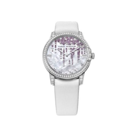 HARRY WINSTON MIDNIGHT 18KT WHITE GOLD 36MM LADIES WATCH