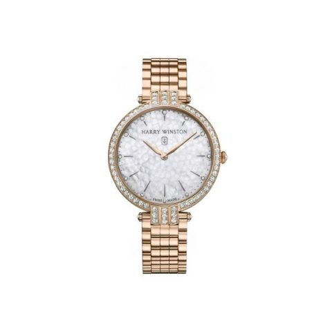 HARRY WINSTON PREMIER 18KT ROSE GOLD 39MM LADIES WATCH