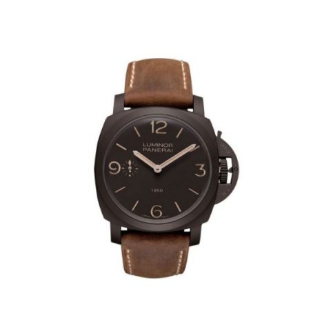 PANERAI LUMINOR MATTE BROWN COMPOSITE 47MM MEN'S WATCH