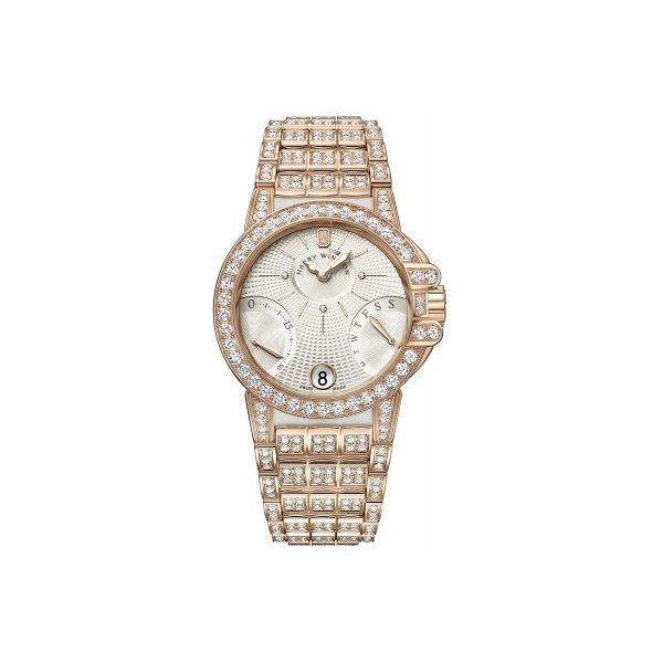 HARRY WINSTON BIRETROGRADE 18KT ROSE GOLD 36MM LADIES WATCH