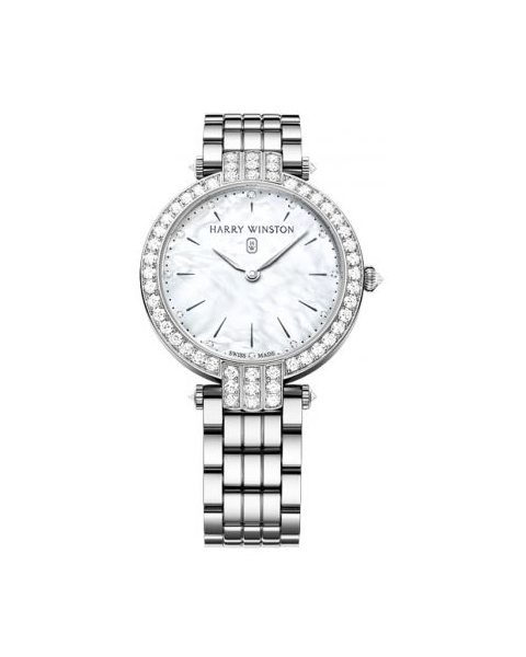 Harry Winston Pre-owned Premier 18kt White Gold 36mm Ladies Watch