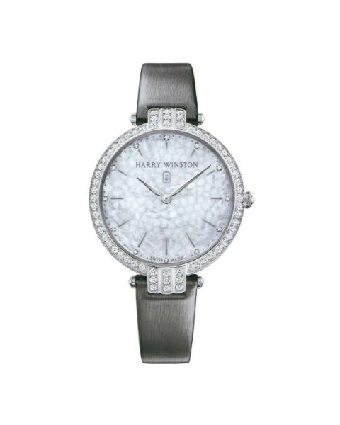 Harry Winston Pre-owned Premier 18kt White Gold 39mm Ladies Watch