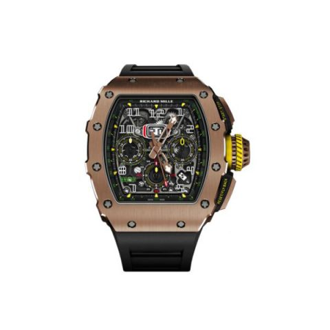 RICHARD MILLE AUTOMATIC FLYBACK CHRONOGRAPH 18KT ROSE GOLD 50MM X 44.5 MM MEN'S WATCH
