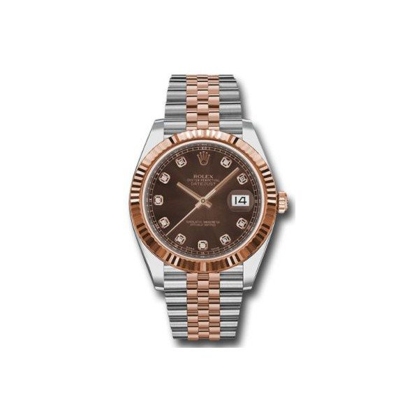 ROLEX DATEJUST 18KT ROSE GOLD 41MM MEN'S WATCH