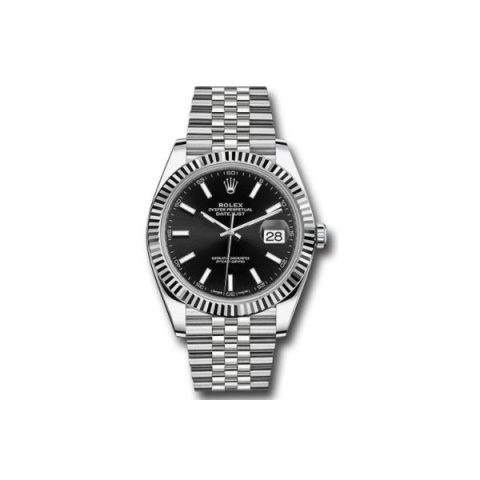 ROLEX DATEJUST 18KT WHITE GOLD 41MM MEN'S WATCH