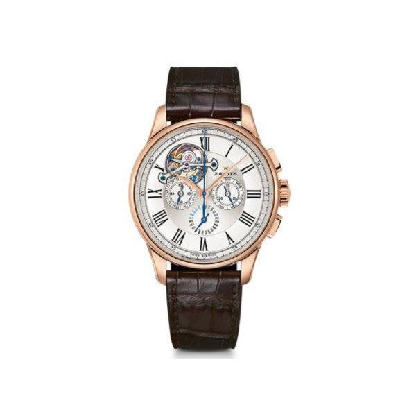 ZENITH ACADEMY TOURBILLON 18KT ROSE GOLD 45MM MEN'S WATCH