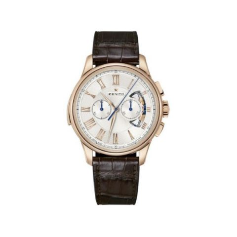 ZENITH ACADEMY 18KT ROSE GOLD 45MM MEN'S WATCH