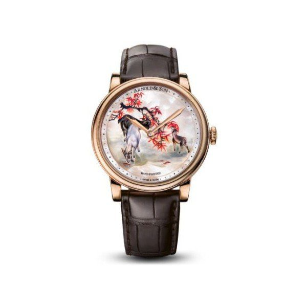 ARNOLD & SON HM GOATS LIMITED EDITION OF 8PCS 18KT ROSE GOLD 44MM MEN'S WATCH