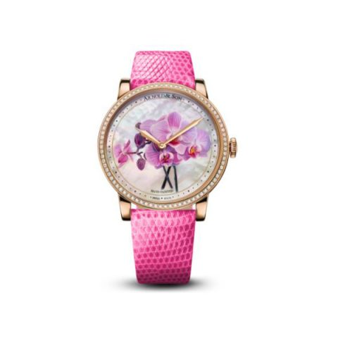 ARNOLD & SON HM FLOWERS LIMITED EDITION OF 8PCS 18KT ROSE GOLD 40MM LADIES WATCH