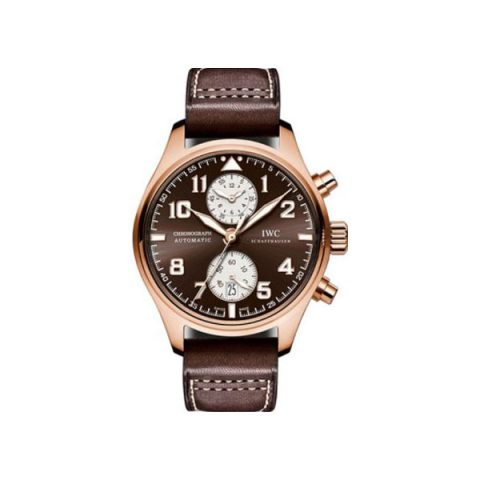 IWC PILOT CHRONOGRAPH SAINT EXUPERY 18KT ROSE GOLD 43MM MEN'S WATCH