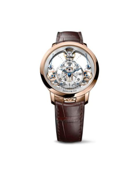 ARNOLD & SON TIME PYRAMID 18KT ROSE GOLD 44.6MM MEN'S WATCH