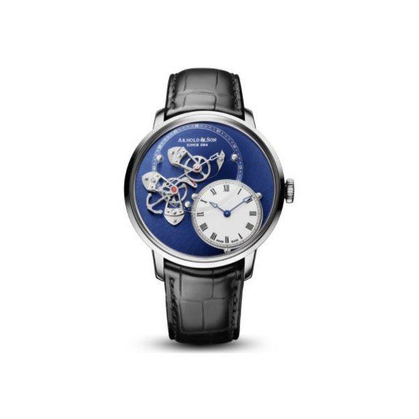 ARNOLD & SON DSTB LIMITED EDITION OF 125 PCS 18KT WHITE GOLD 43.5MM MEN'S WATCH
