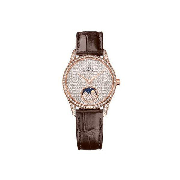 ZENITH ELITE 18KT ROSE GOLD 18KT ROSE GOLD 33MM LADIES WATCH