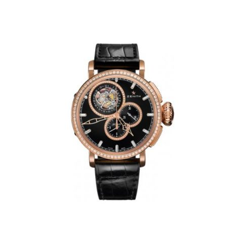 ZENITH TYPE 18KT ROSE GOLD 48MM MEN'S WATCH