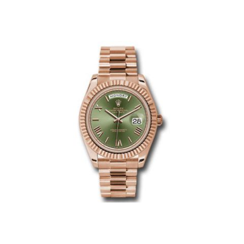 Rolex Pre-owned Oyster Perpetual Day Date 18kt Rose Gold 40mm Men's Watch