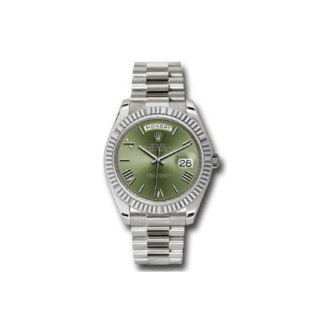 ROLEX DAY DATE 18KT WHITE GOLD 40MM MEN'S WATCH
