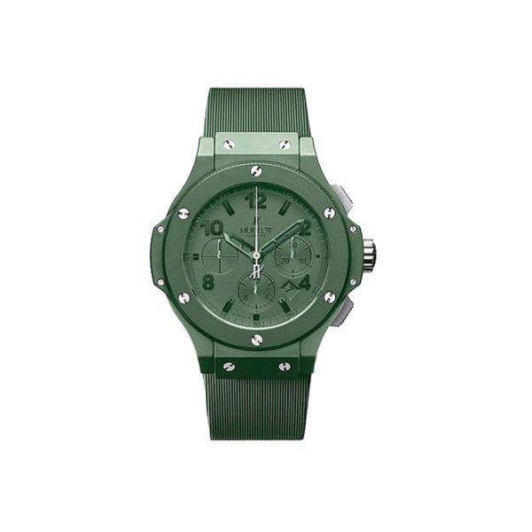HUBLOT BIG BANG LIMITED EDITION OF 500 PCS GREEN PVD COATED CERAMIC KEVLAR 44MM MEN'S WATCH