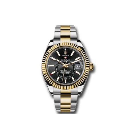 ROLEX SKY DWELLER 18KT YELLOW GOLD 42MM MEN'S WATCH