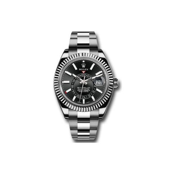 ROLEX SKY DWELLER 18KT WHITE GOLD 42MM MEN'S WATCH