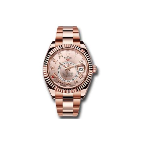 ROLEX SKY DWELLER 18KT ROSE GOLD 42MM MEN'S WATCH