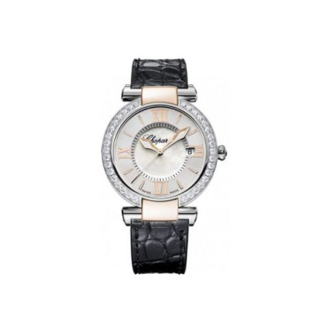 CHOPARD IMPERIALE STAINLESS STEEL & 18KT ROSE GOLD 36MM LADIES WATCH